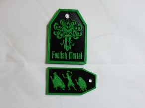 Haunted Luggage Tags