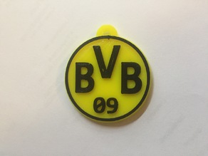 BVB BORUSIA Logo Keychain, two color print