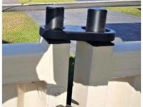 Fence post holder
