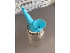 Widemouth Mason / Ball jar spout lid and funnel