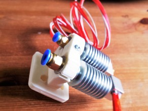 Dual Extruder Mount -  E3D V6 & V5 /OR J Head