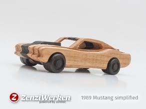 1969 Mustang  simplified cnc/laser