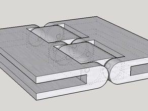Reversible Hinge for cardboard box 4mm