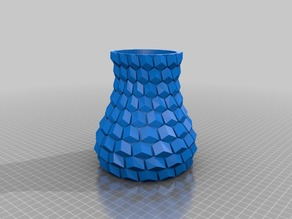 Curved Honeycomb Vase Thick