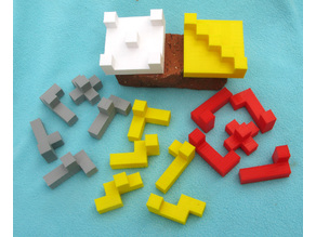 Three Hexacube Construction Puzzles