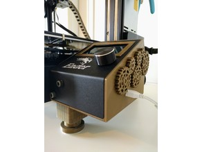 Ender 3 Pro - Station (LCD/Pi/Drawer Space/Steampunk Gears)