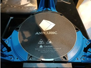 Anycubic Kossel bed clip, cover and LED ultimate kit