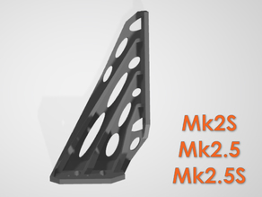 PSU replacement frame brace for Original Prusa Mk2S / Mk2.5 - stiffened