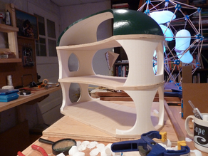 Curved Green Roof Doll House