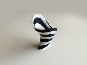 Zebra Vase (Dual Extrusion / 2 Color)
