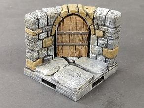 OpenForge 2.0 Dungeon Stone Curved Doors