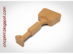 First monolithic DIY CNC Mallet Hammer - Build your own!