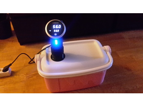 Anova sous vide circulator to coolerbox adapter
