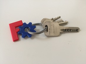 FreeCAD keychain (dual or single extruder versions)