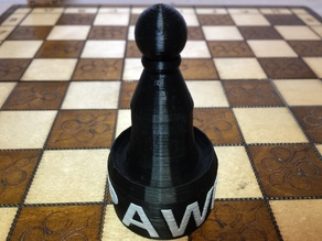 Pawn Chess Piece -with PAWN