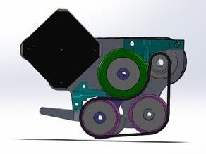 Gunstruder : Belt friction extruder Cold-end