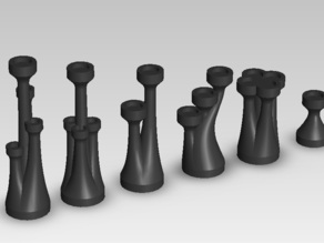 Turret Chess Set
