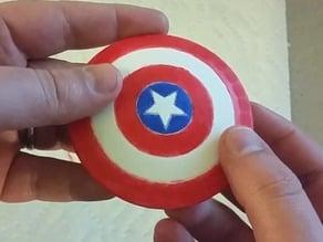 Mini Captain America Shield Magnet