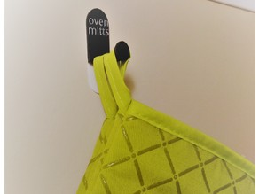 Oven Mitt Hook - 3M Medium Strip