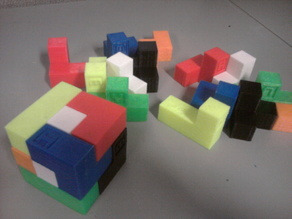 Soma Cube Labeled