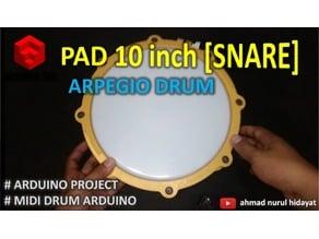 SNARE - DIY MIDI DRUM PAD 10ich