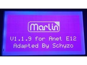 Anet E12 Marlin 1.1.9 Firmware