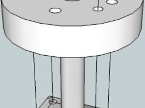 Insulator retainer MK5 hotend to MK4 extruder