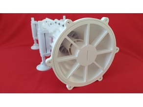 Dual stage axial fan