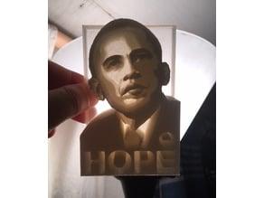 Obama Hope Lithophane