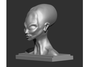 Alien Bust Figurine Reproduction Alien found in the 50s in South America