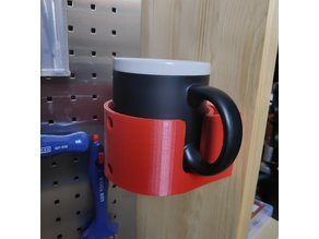 Mug holder screw mount