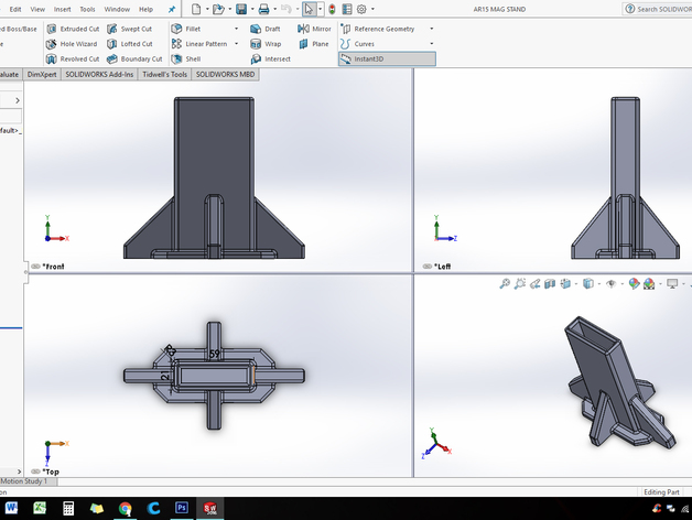 AR 15 MAGAZINE STAND (BEEFY) by Tiddy427 - Thingiverse