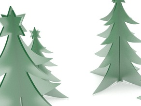 Christmas tree in two parts