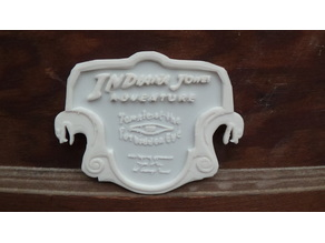 Indiana Jones Ride Sign Plaque