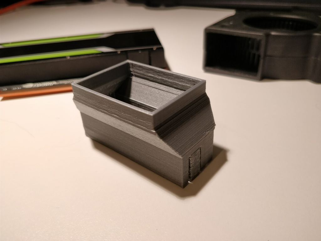 NVIDIA Tesla T4/P4 blower fan adapter by aw_ - Thingiverse