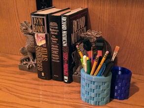 Basket Weave Pencil Cup