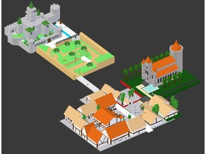 Hyrule Castle Town (Low Poly)