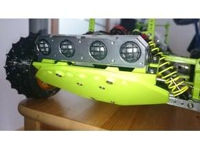 Light bar holder for skidplate/bumper OpenRC Truggy