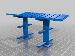 Model train lumber rack