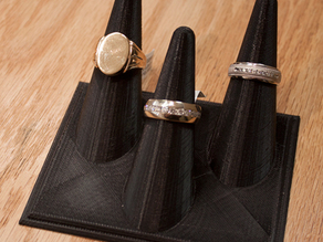 Ring holder for single or three rings