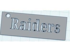 Raiders keychain