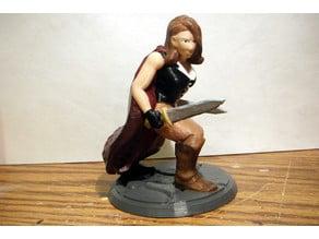 Desktop Hero Heroine with Cape and 2 Swords