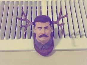 Stalin Antler Plaque