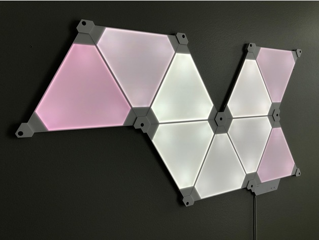 Nanoleaf Aurora Wall Mounts By Toofishes Thingiverse