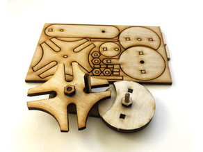 Laser cut Geneva wheel flat pack