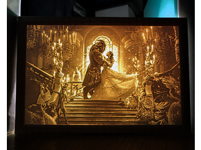 Beauty and the Beast Lithophane