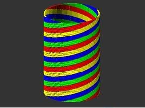 customizable multi color vase