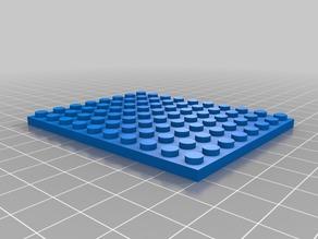 My Customized Parametric Lego Brick 8x10