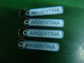 Argentina keychain