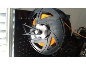 Parametric Peg board spool holder